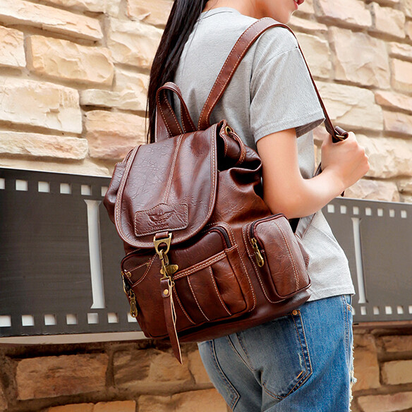Brown Vintage Backpack School Bags Teenage Girl Backpacks College Student Bagpack Retro Leather Bag Women Travel Bags 2017 Men 2017 new masked rider laptop backpack bags cosplay animg kamen rider shoulders school student bag travel men and women backpacks