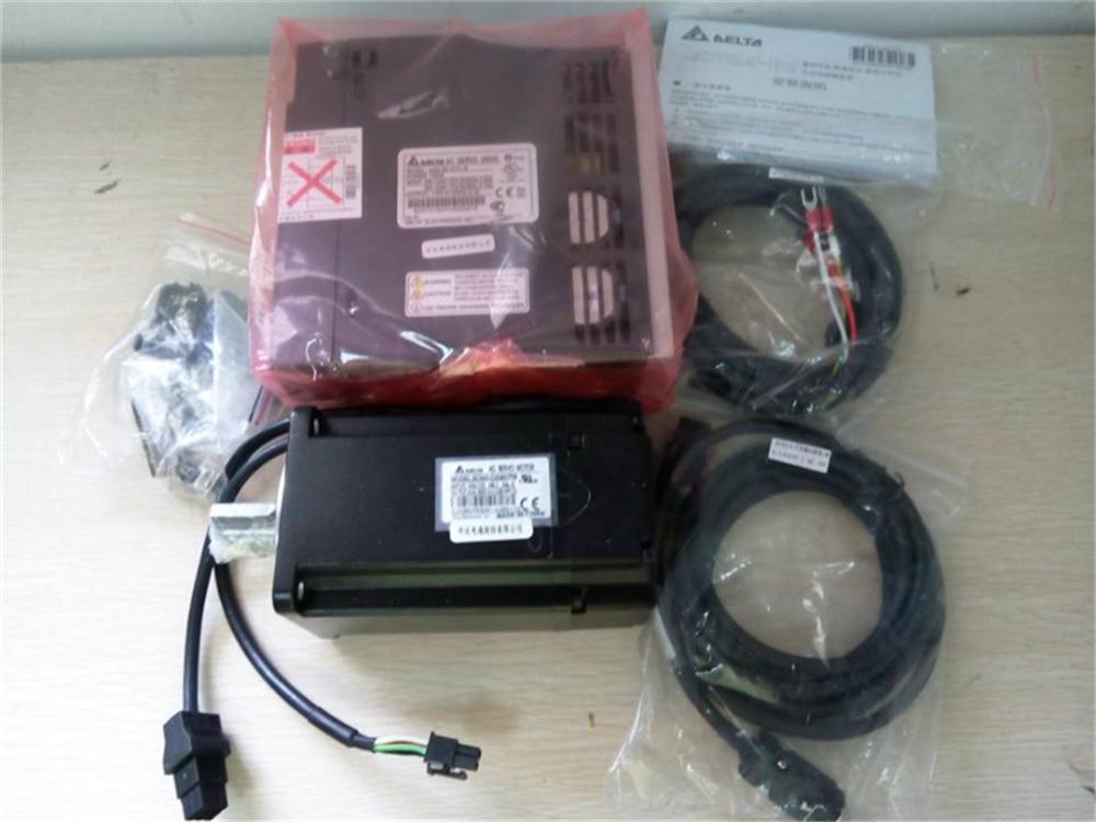 Servo Motor+Driver Kit 220V AC Delta 200W 0.2KW 60mm 3000rpm AB Series ECMA-C30602PS+ASD-A0211-AB New original new delta 0 2kw 200w servo motor set asd a0221 ab ecma c30602rs 60mm 3000rpm 220v