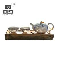 TANGPIN rectangle bamboo tea trays natural bamboo tea board kung fu tea tray table