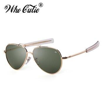 e1871a65ac Gafas de sol con montura dorada de alta calidad de diseñador de marca para  hombre, gafas de sol para piloto AO OM288