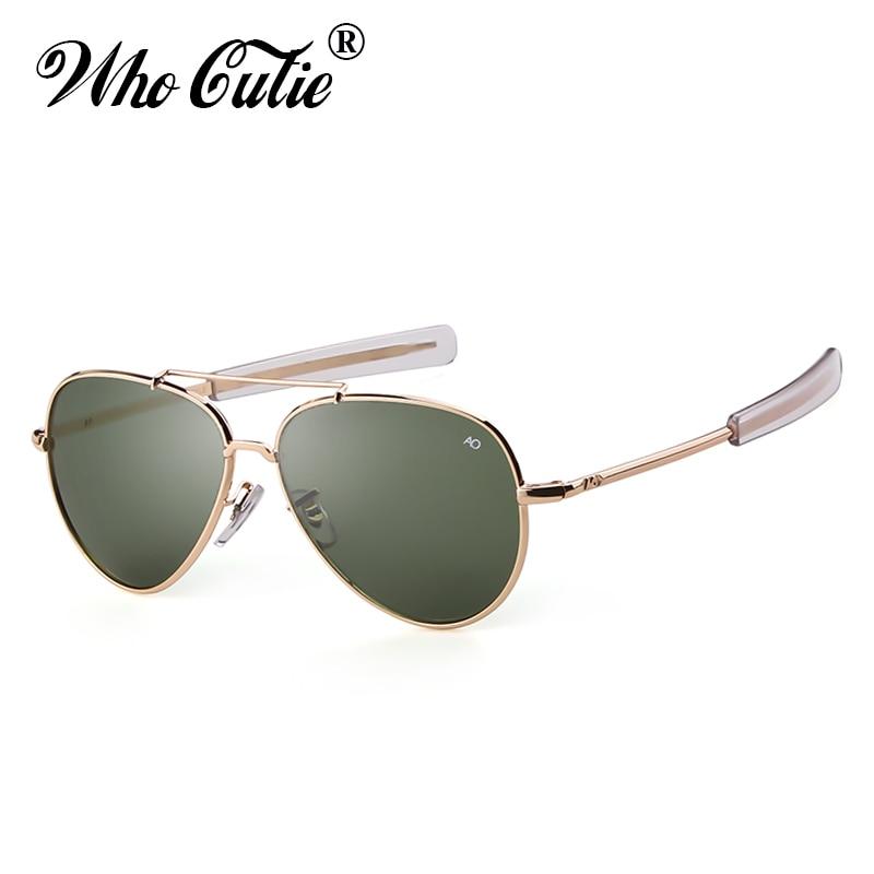 ad4945b1c4ca8 QUE GRACINHA Americano Óptica Óculos De Sol Dos Homens Designer de Marca de Alta  Qualidade Quadro do Ouro Piloto AO Sol Masculino Óculos de sol Óculos ...