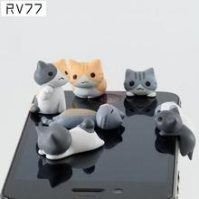 3.5MM Mobile Phone Earphone Jack Cute Cartoon Cat Model Dust-Proof Plug For iPhone For Android Smart Phone