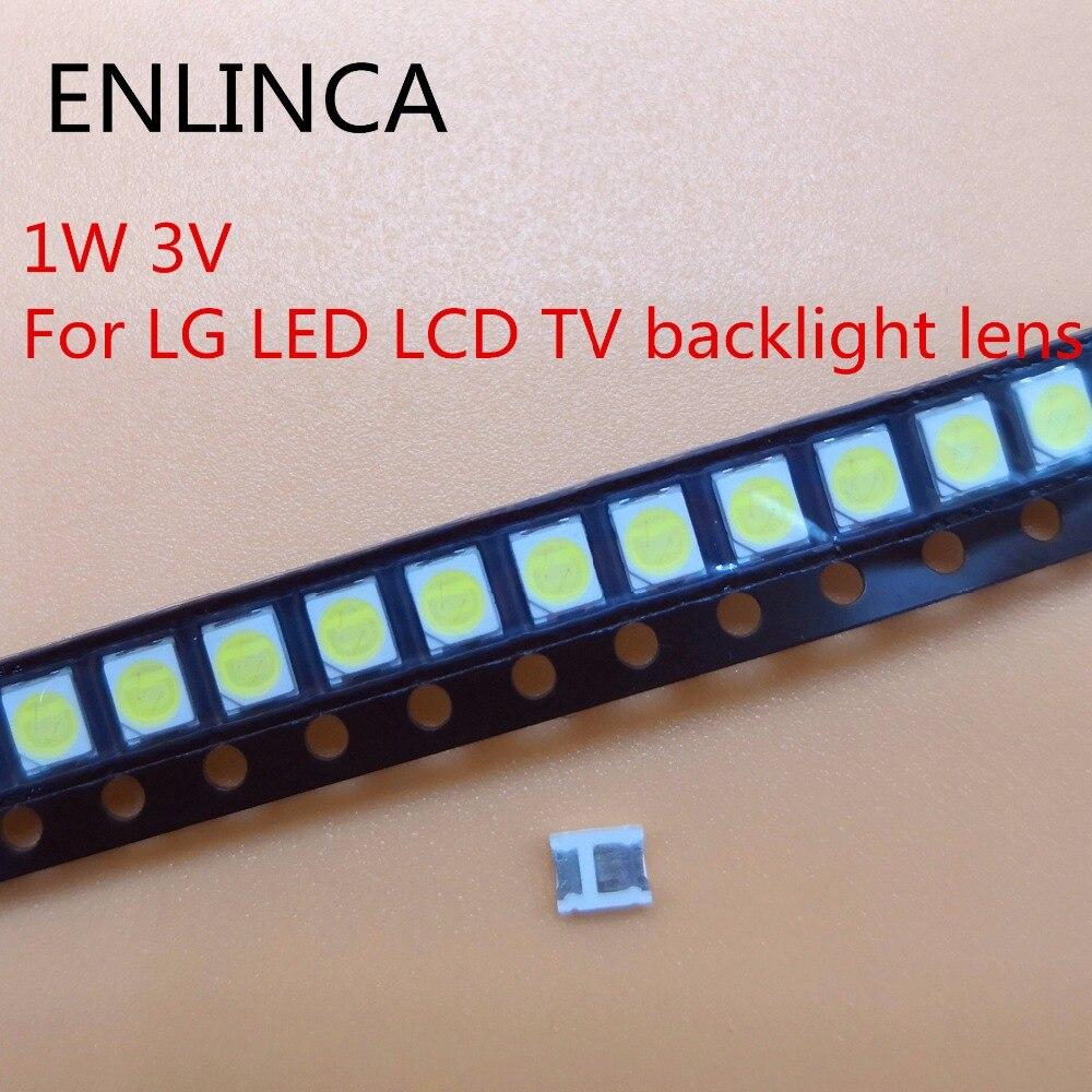 100-200pcs Original For LG LED LCD TV backlight lens beads 1W 3v 3528 2835 lamp beads cold cool white light