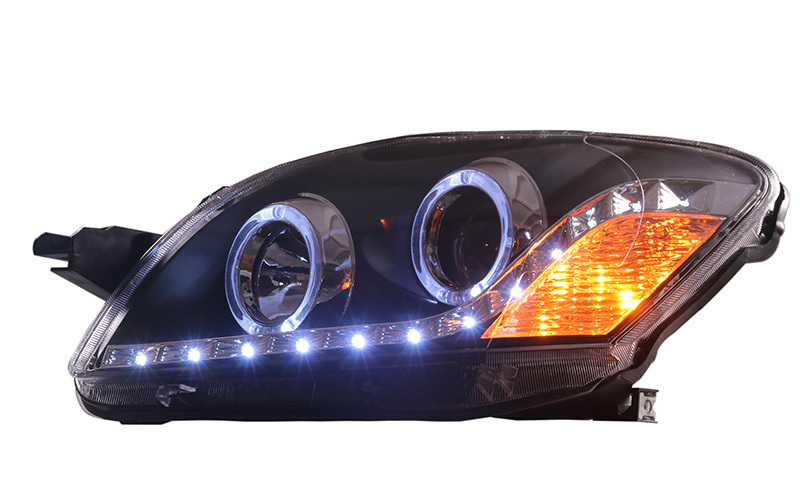 car styling for Toyota Vios led headlights for Yaris Headlight angle eyes headlamp projector lens 2008 2013 Front light-in Car Light Assembly from Automobiles & Motorcycles    2