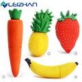 LEIZHAN Симпатичный USB Flash Drive Pen Drive Pendrive Клубника Морковь банан Ананас 64 г 32 г 16 г 8 г 4 г Овощей Фрукты USB Stick