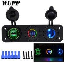 WUPP Dual Car Charger 5V 4.2A Cigarette Lighter 2 USB Vehicle DC 12V-24V Double Aperture Port Power Socket