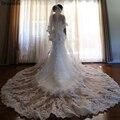 Dresstells Элегантный Три Слоя Края Шнурка Тюль 3 М Чистая Слоновая Кость или написать Собор Мантилья Свадьба Невеста Покрывалами с гребень