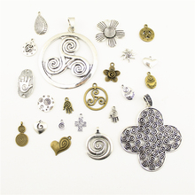 Fashion Jewelry Making Swirl Palm Talisman Flower Love Findings Components Mix Pendant