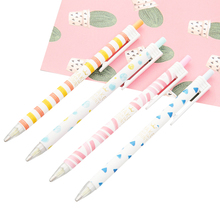 4pcs/lot Plain text Colour Automatic Pencil Pen School And Office Supply Stationery 0.7mm