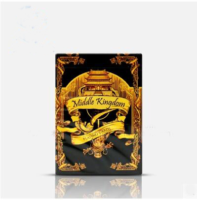 Free shipping bicycle playing cards Middle Kingdom gold color magic tricks magic props ...