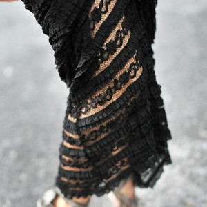 Image 4 - TIYIHAILEY, бесплатная доставка, 2020 S 10XL, кружевная длинная юбка макси, женская летняя формальная прямая юбка размера плюс, черно белая, сексуальная