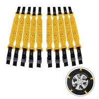 10PCS Car Snow Chains Widened Tire Snow Chain for Winter Auto Car Mud Tyres wheels Anti Skid Autocross Outdoor R 1539