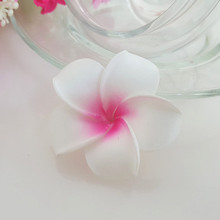 wholesale 100pcs 4cm hawaian 5COLORS  real touch Artificial PE plumeria Flower Heads DIY wedding party headware decoration