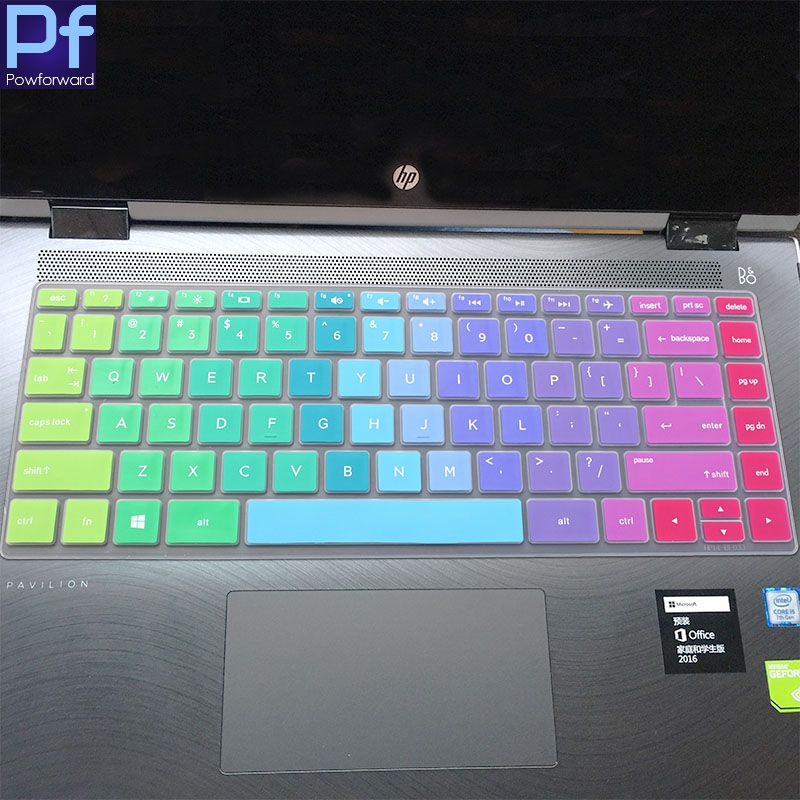 Saco Keyboard Silicon Protector Cover for HP 15-AC048TU 15.6-inch Laptop Black with Clear