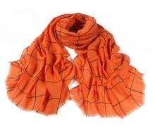 Classic Cotton Plaid Checked Print Orange Scarf Large Soft Women Scarves Tassles Big Tartan Delicate Fashion Wrap Shawls