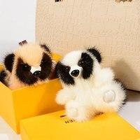 100% Real Mink Fur Copenhagen Raccoon Rabbit Keychain Bag Pendant Car Accessories Mink Fur Accessories Key Chain Women