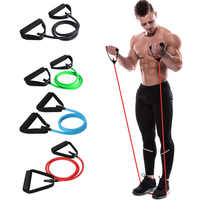 120 cm Fitness bandes de résistance élastique Yoga tirer corde exercice Tubes élastiques d'entraînement bandes pour Yoga Pilates expanseur élastique