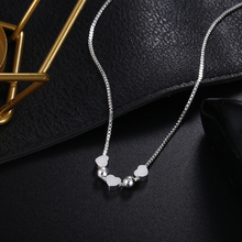 wholesale Charms Heart silver color women necklace jewelry lady fashion cute pendant wedding LN054