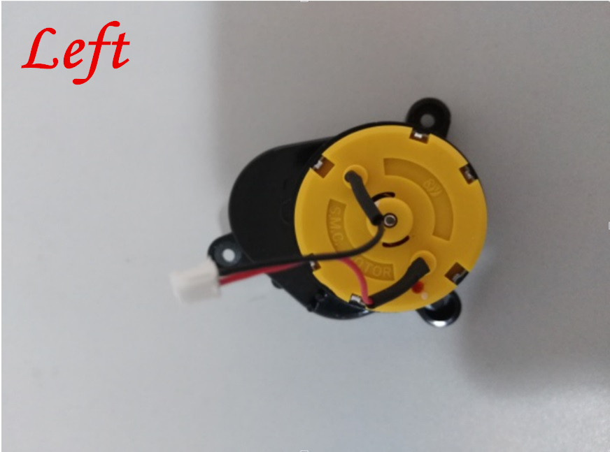 1pcs Robot cleaner Left Side Brush Motor for ilife A4S parts ilife A4 A6 X620 X432 T4 Robot vacuum cleaner parts replacement side brush motors assembly for panda x500 vacuum cleaning robot including left motor assembly x1pc right motor assembly x1pc