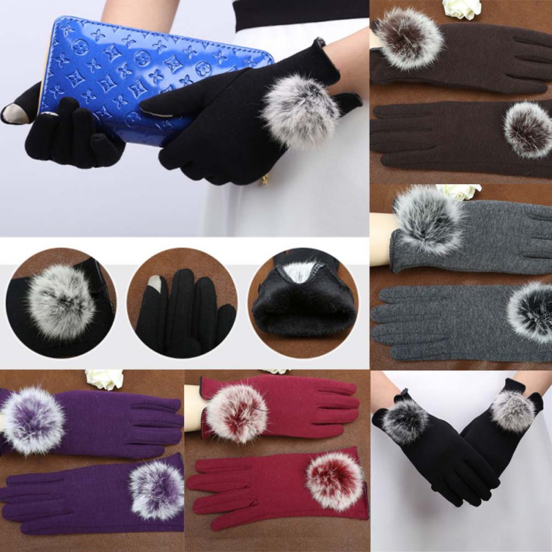 Stylish and Comfortable Touch Screen Gloves made of Cotton with Lace for All Touch Screen Device Suitable for Winter 7