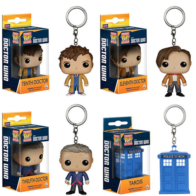 Funko POP Bolso Chaveiro Toy Doctor Who 11th/12th/123th Tardis Figuras de Ação