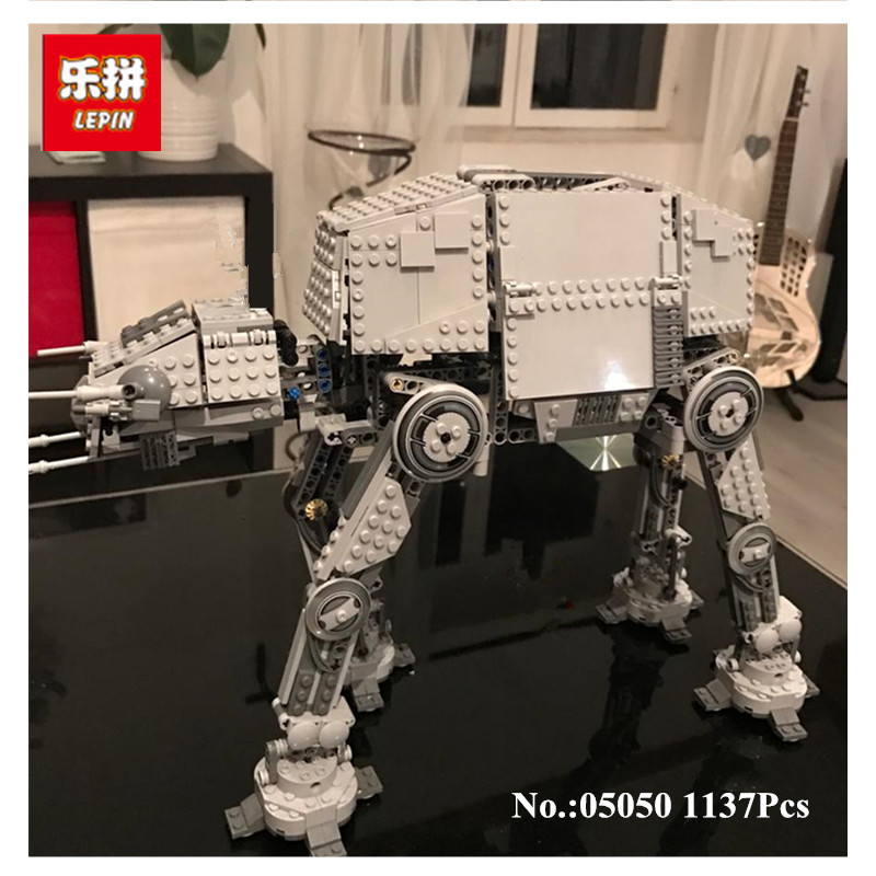 IN STOCK NEW Lepin 05050 AT-AT the Robot Electric Remote Control Building Blocks Toys 1137pcs Compatible  Boys Toys  Gift