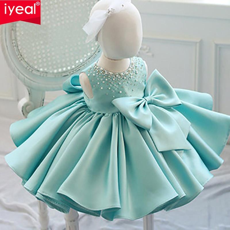 IYEAL haute qualité fleur fille Pageant robe filles élégant Tutu baptême mariage princesse robe robes de soirée pour 2-8 ans
