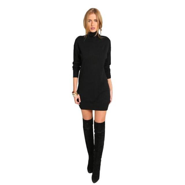 Vestido negro en invierno