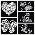 1pcs Butterfly Heart Dragon Bird Large Airbrush Tattoo Stencil For  Body Paint, Glitter Stencils Template Tattoo Body Painting