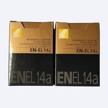 2 ピース/ロット EN EL14a ENEL14a EN EL14a バッテリーニコン DF D5600 D5500 D5300 D5200 D5100 D3400 D3300 D3200 D3100 P7100 p7700 P7800