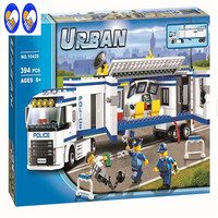 394pcs 2016 10420 City Police Fluidity Police Station Building Blocks Assembled Kids Toys Compatible With Legoe