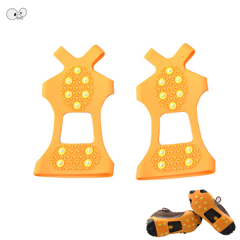 10 Studs Latex Snow Crampons Cleats Ice Gripper Spikes For Shoes Kids Aduit Outdoor Anti Slip Climbing Chain Claws Boots Cover