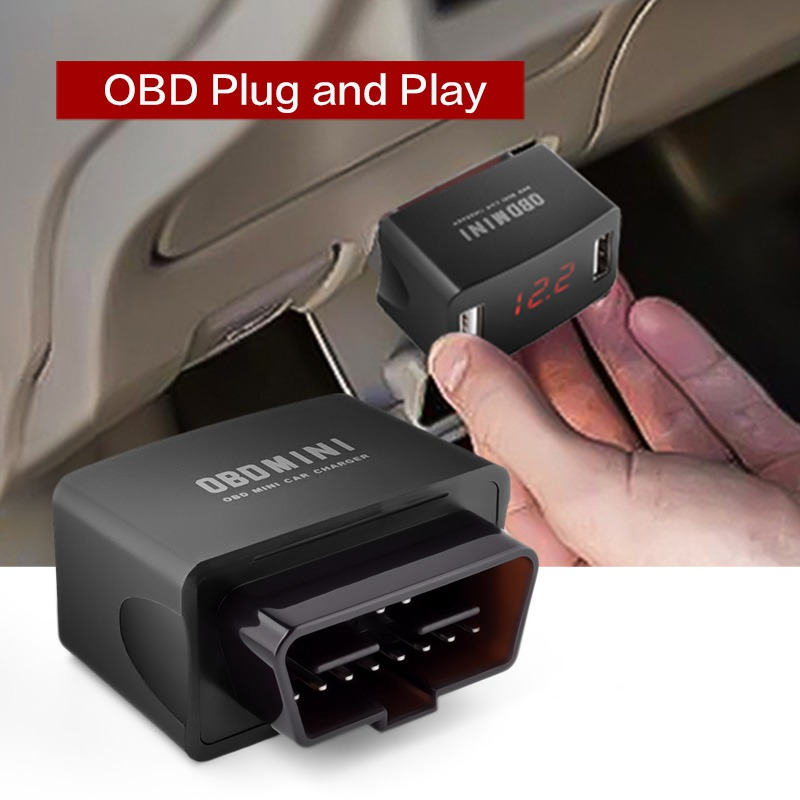 New OBD To USB Interface Charger Adapter Hardwire Kit 10ft Car Charger Cable Universal Usb Socket Fast Charge