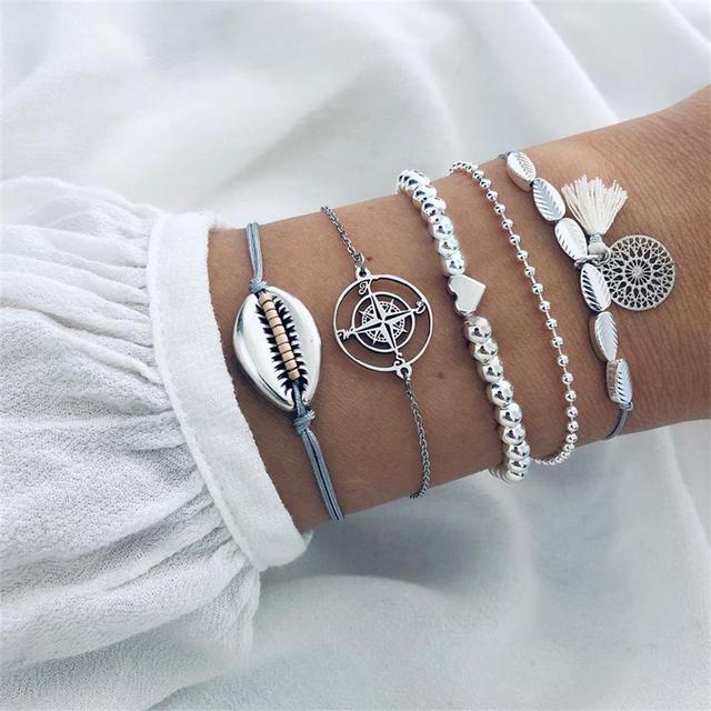 Bracelets Set Vintage Heart...