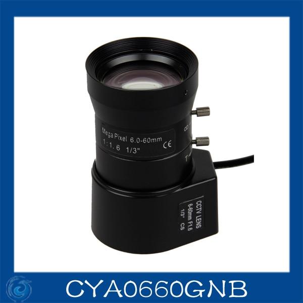 cctv camera lens 6-60mm Auto Iris lens 1/3 CS F1.6 Free shipping.CYA0660GNB free shipping 6 pcs 1 3 f1 6 cs fixed iris 16mm ir lens cctv camera professional lens