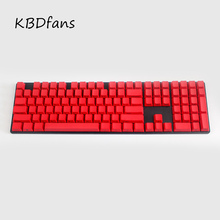Free shipping side printed 108 keys Mixed Color OEM Profile Thick pbt keycaps puller for wried usb mechaniacal gaming keyboard