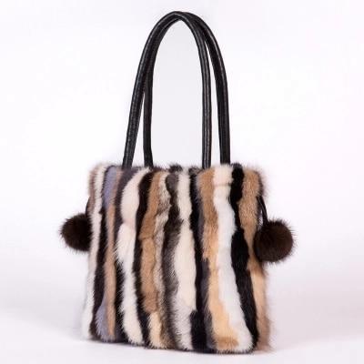 8c23daef4e Luxury Winter Women real fox fur Shoulder Bags Top-Handle Female Fashion  Hairy Designer Handbag