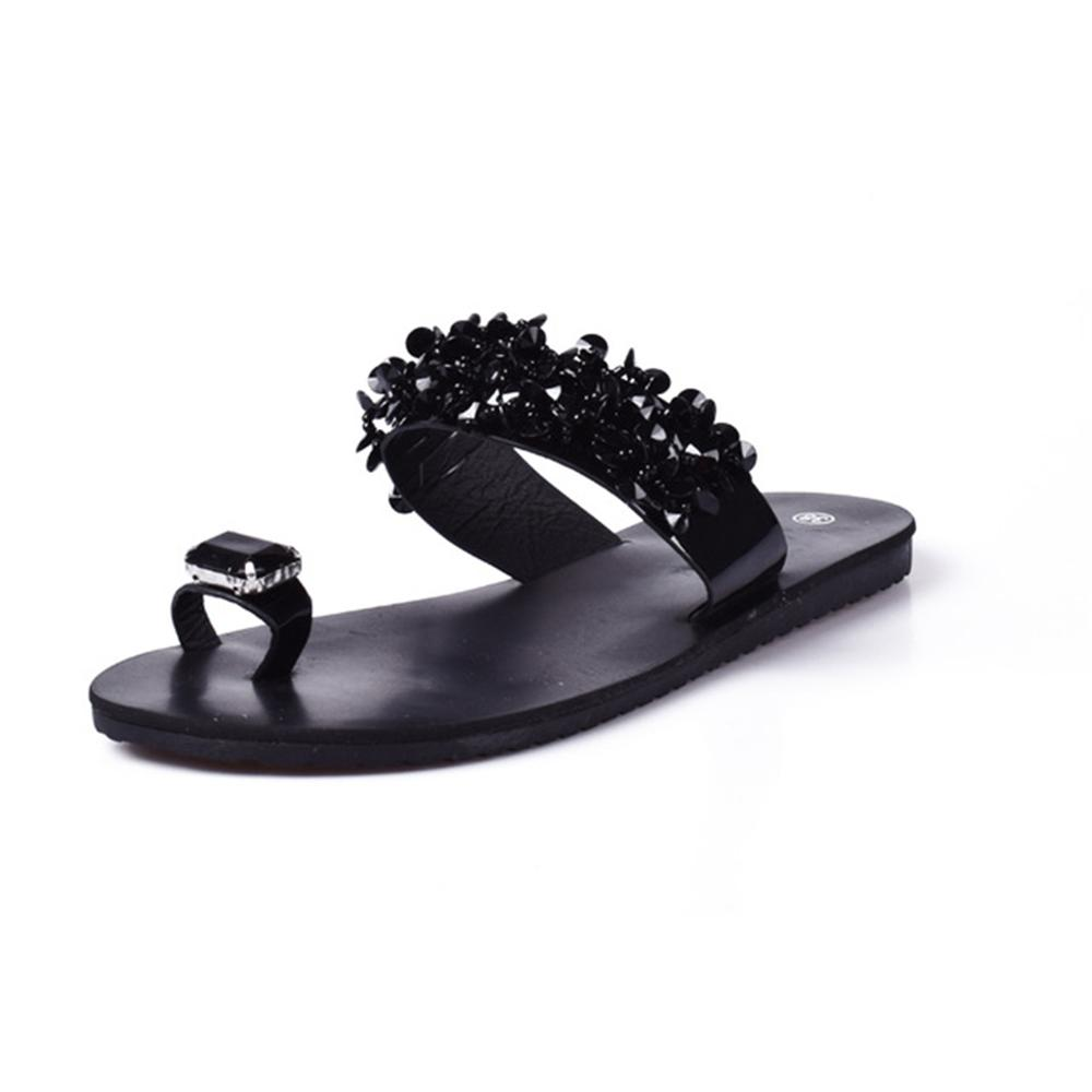Women Sandals Flip Flops New Summer Fashion Rhinestone Wedges Shoes Slides Crystal Lady Casual Shoes Female flats sandals plus size34 43 2016 new fashion women slides black flip flops shoes wedges pumps beading casual women s slipper sandals ps2572