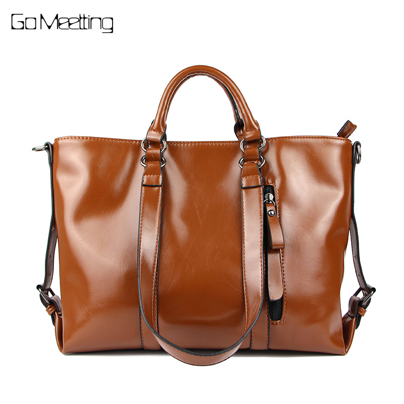 Go Meetting Luxury Women Bags Oil Wax Leather Handbags Tote Fashion Women Messenger Shoulder Bag Ladies Large Croseebody Bags женские часы go girl only go 694923
