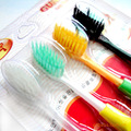 4pcs/set Tooth Brush  Bamboo Charcoal Technology Interdental Brushes Oral Hygiene Free Shipping