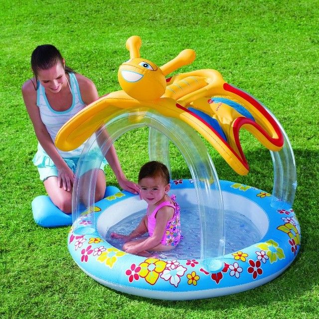 Bestway genuine 52137 butterfly canopy inflatable pool baby bath ball pool b32 & Bestway genuine 52137 butterfly canopy inflatable pool baby bath ...