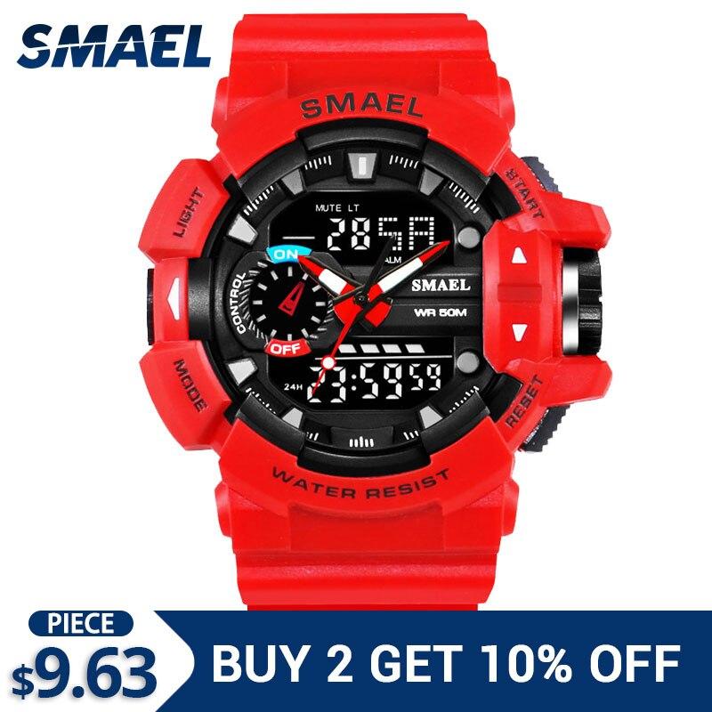 2018 New Military Watch Waterproof 50m S Shock Resitant Sport Watches Saat Digital Clock Men Military Army Big Men Watch Sport Digital Watches Watches