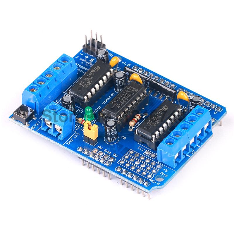 2pcs Motor Drive Shield Dual L293d L293d For Arduino Duemilanove Duemilanove Mega: arduino mega 2560 motor shield