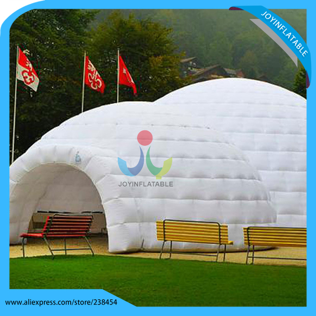 Inflatable white dome tent 10 meters white large inflatable igloo dome tent with tunnel made of & Inflatable white dome tent 10 meters white large inflatable igloo ...