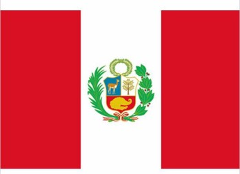 free  shipping xvggdg NEW Peru Flag 3ft x 5ft Hanging Polyester standard Banner