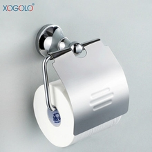 Xogolo Wholesale And Retail Polished Chrome Roll Towel Paper Holder Fashion Bright Toilet Bathroom Accessories