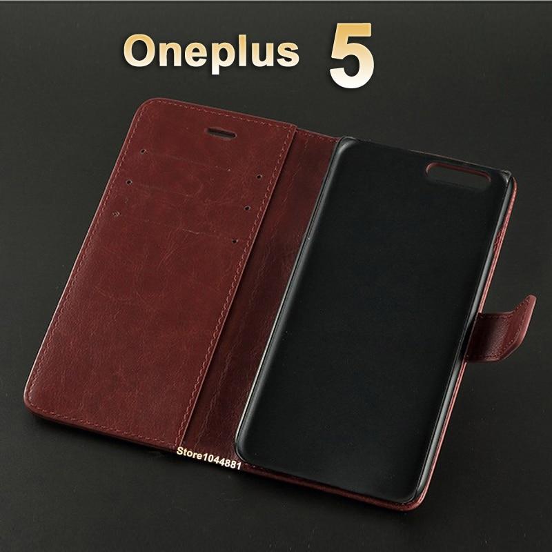 5 T OnePlus 5 T Kasus Cover Kulit Crazy Horse balik Pu Kasus Untuk - Aksesori dan suku cadang ponsel - Foto 3