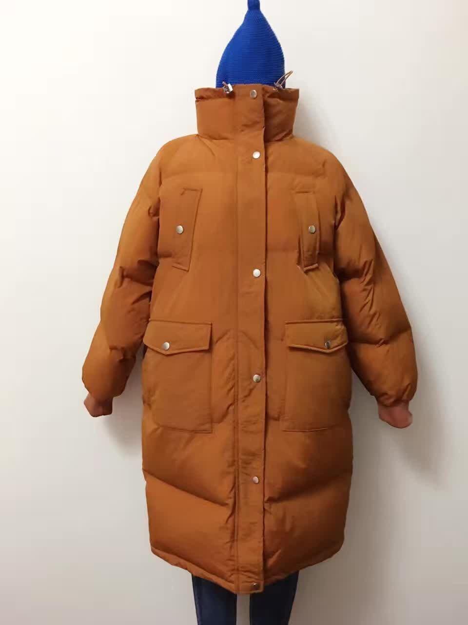 Plus size winter wadded jacket thickening cotton-padded jacket outerwear cotton-padded jacket female medium-long bread service