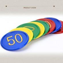160 шт пластиковый покерный чип с 4 золотыми большими цифрами, печать для игровых жетонов, Пластиковые монеты, четыре цвета, 160 шт фишек