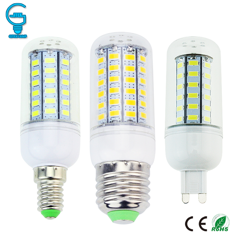 Bombilla de maíz LED E27 E14 G9 lámpara de LED 220V 110V Bombilla LED 24 36 48 56 69 lámpara colgante de LED vela ampolla bombillas lámpara 110V 220V E27 RGB bombillas de luz led 5W 10W 15W RGB lámpara cambiable colorida RGBW LED lámpara con Control remoto IR + Modo de memoria
